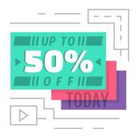 50% korting vandaag! vector