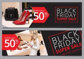 Black Friday-verkoopbannermalplaatje Mock Up Klaar te gebruiken