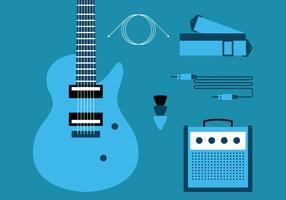 Knoppenset elektrische gitaar vector
