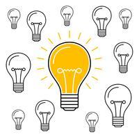 Nieuw idee bedrijfsillustratie