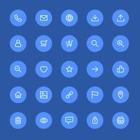 Meest gebruikte webdesign-iconen, ui-set