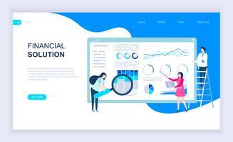 Modern plat ontwerpconcept van financiële oplossing vector