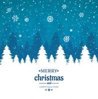 De vrolijke Kerstmiskaart met glanzende de winterboom schittert achtergrond vector