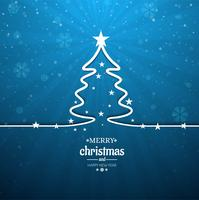 Mooie vrolijke kerstboom achtergrond vector