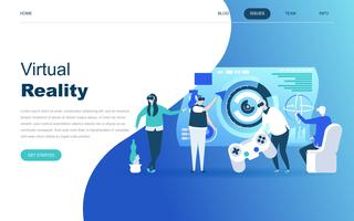 Modern plat ontwerpconcept van Virtual Augmented Reality vector