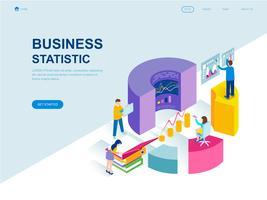 Modern plat ontwerp isometrisch concept van bedrijfsstatistiek vector