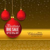 Vrolijke van de de bal grote verkoop van Kerstmis vectorvector
