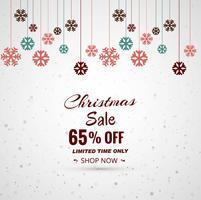 Merry christmas snowflake festival verkoop achtergrond vector