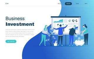 Modern plat ontwerpconcept van bedrijfsinvesteringen vector