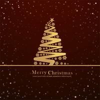 Mooie vrolijke kerstkaart achtergrond vector