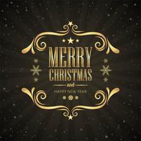 Merry christmas card decoratieve achtergrond vector