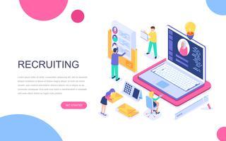 Modern plat ontwerp isometrisch concept van Business Recruiting vector