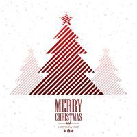 Mooie vrolijke de kaartachtergrond van de Kerstmis creatieve boom vector