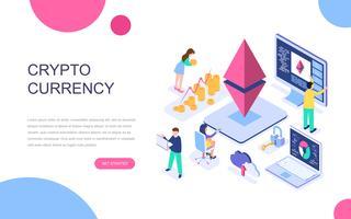Modern plat ontwerp isometrisch concept van Cryptocurrency Exchange