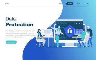 Modern plat ontwerpconcept van gegevensbescherming
