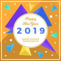 Flat Abstract Gelukkig Nieuwjaar 2019 Instagram Post