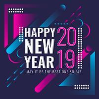 Vector Gelukkig Nieuwjaar Instagram Post
