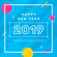 Gelukkige Nieuwjaar Instagram Post Vector