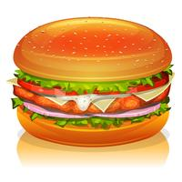Kip hamburger pictogram vector