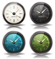 Horloges Icons Set vector