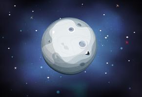 Maanplaneet op Ruimteachtergrond vector