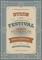 Vintage vakantie Festival uitnodiging achtergrond