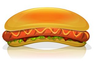 Hotdog hamburger pictogram