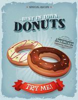 Grunge en Vintage Amerikaanse Donuts-Affiche