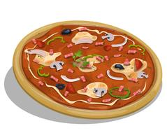 Italiaanse pizza vector