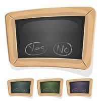 Grappig Blackboard-bord voor Ui-spel vector