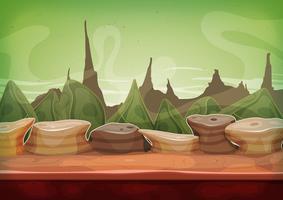 Cartoon Fantasy Sci-fi Martiaanse achtergrond