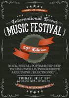 Vintage Festival uitnodiging Poster op schoolbord