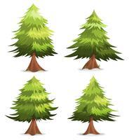 Pijnbomen en dennen instellen vector