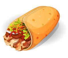 Mexicaans Burrito-pictogram vector