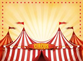 Big Top Circus Achtergrond Met Banner vector