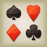 Vintage Retro gokken kaarten iconen vector