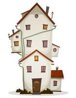 Grappig groot huis vector