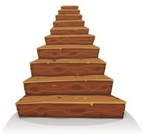 Cartoon houten trap