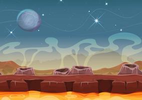 Fantasy Alien Planet Desert Landscape voor Ui Game vector