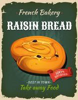 Retro rozijnen brood Poster