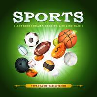 Sport achtergrond vector