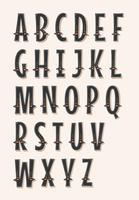 Stripcircus en Western ABC-lettertype vector