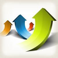 Abstracte stijgende pijlen vector