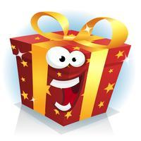 Kerstmis en verjaardag cadeau vak karakter