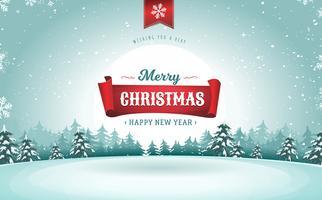 vrolijk kerstfeest wenskaart vector