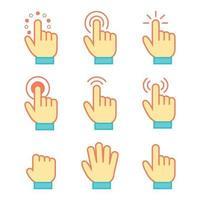 hand muis cursor icon set vector