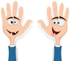 Rechts en links handen omhoog! vector