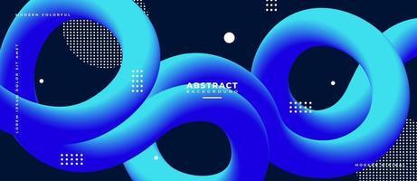 3d blauwe kromme vloeibare golfvorm abstracte vloeibare achtergrond. vector