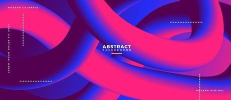 3d magenta en blauwe vloeibare golfvorm abstracte vloeibare achtergrond. vector