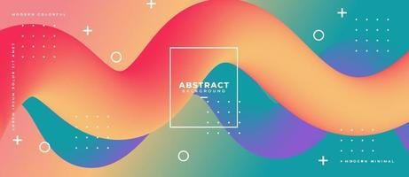 3d gradiënt vloeibare golfvorm abstracte vloeibare achtergrond. vector